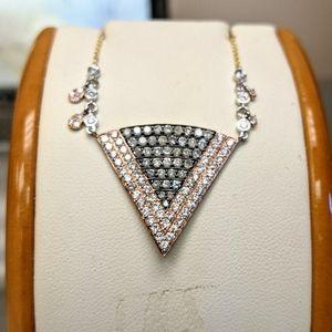 MeiraT Diamond Triangle necklace